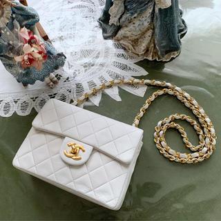 CHANEL - 美品&付属品完備!ヴィンテージ シャネル ミニマトラッセ チェーンバッグ