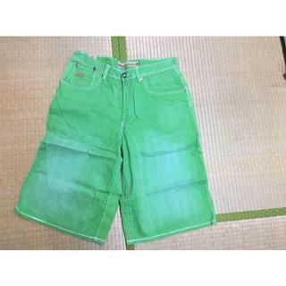 エニーチェ(ENYCE)のENYCE(緑)ハーフパンツ W34(ショートパンツ)