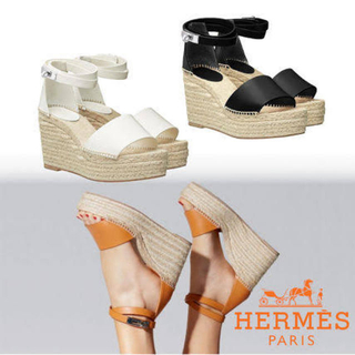 Hermes - HERMES正規☆希少レディスエスパドリーユ《ティヴォリ》☆美品☆送料込