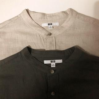 UNIQLO - UNIQLO バンドカラーシャツ
