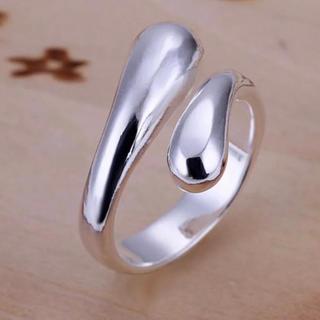 TODAYFUL - タイムセール!シルバーリング ワイドカーブフォルムクロス 指輪 新品