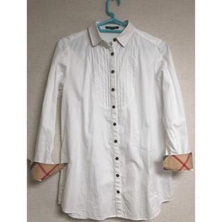 BURBERRY BLUE LABEL - BURBERRY 白 ロングシャツ 38