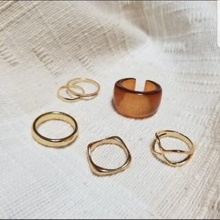 niko and... - ゴールド シルバー リング 指輪 セット  重ね付け ミル チェーン クリア