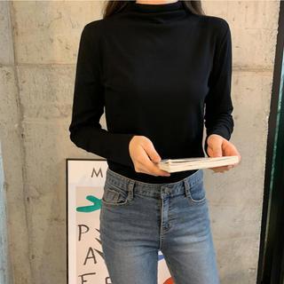 ゴゴシング(GOGOSING)のピース☆ハーフタートルネックTシャツ(Tシャツ(長袖/七分))