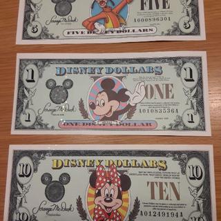 ディズニー(Disney)のディズニーダラー3枚セット(その他)