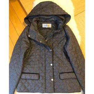 VIAGGIO BLU - 約3万美品本物ビアッジョブルー高級フード付きキルティング中綿ブルゾン♬