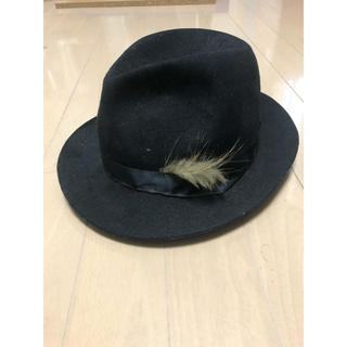 カシラ(CA4LA)のca4la 中折れ帽 ハット 黒 ウール カシラ(ハット)