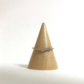 ☆送料無料☆シルバーリング ピンクゴールドカラー サイズ約11号(リング(指輪))