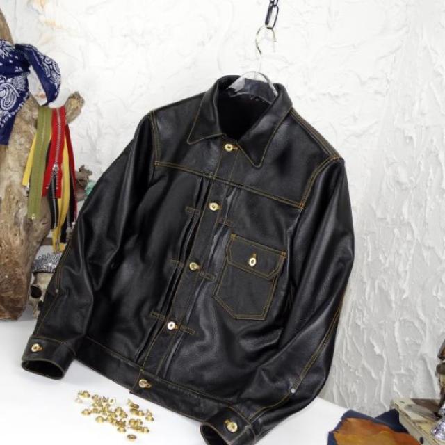 レザージャケット ライダースジャケット メンズUNION MADE 牛革サイズ選 メンズのジャケット/アウター(レザージャケット)の商品写真