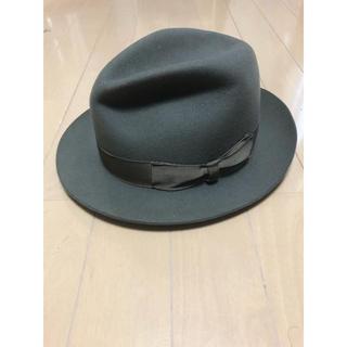 ボルサリーノ(Borsalino)のBorsalino ボルサリーノ 中折れ帽 ハット フェルト グレー(ハット)