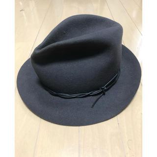 ボルサリーノ(Borsalino)のcoeur ハット 中折れ帽 M 中折れハット グレー 美品(ハット)