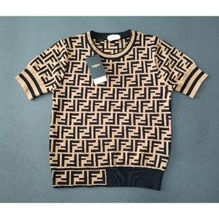 FENDI - お勧め!❁Fendiフェンデイ ニットTシャツ レディース❁︎