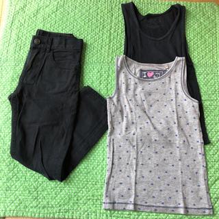 エイチアンドエム(H&M)の【3点セット】サイズ120 H&M チノパン パンツ ズボン タンクトップ(パンツ/スパッツ)