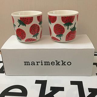 marimekko - マリメッコ  ラテマグ 2個セット マンシッカ イチゴ 完売品