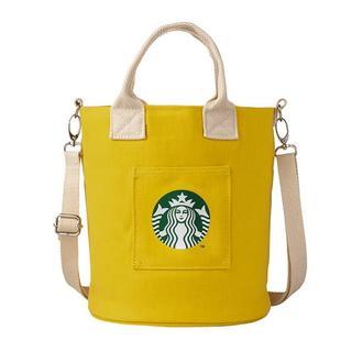 スターバックスコーヒー(Starbucks Coffee)のスターバックス:ショルダーバッグ  ロゴ 台湾 スタバ イエロー(ショルダーバッグ)