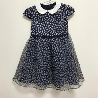 トッカ(TOCCA)のワンピース ドレス tocca キッズ 120 お花 フォーマル 襟 半袖 美品(ドレス/フォーマル)