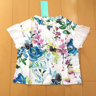 ハッカキッズ(hakka kids)のハッカキッズ  120 新品 ブラウス  トップス 花柄(Tシャツ/カットソー)