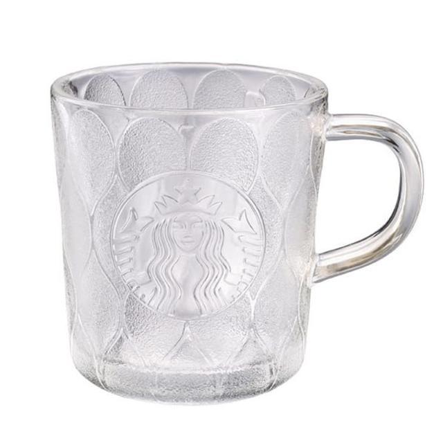Starbucks Coffee(スターバックスコーヒー)のスターバックス:マグカップ クリア  ロゴ 台湾 スタバ インテリア/住まい/日用品のキッチン/食器(グラス/カップ)の商品写真
