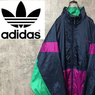 adidas - 【激レア】アディダスオリジナルス☆刺繍ロゴマルチデザインナイロンジャケット90s