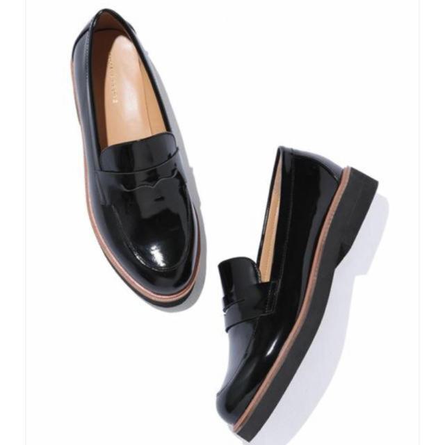 Adam et Rope'(アダムエロぺ)のアダムエロペ 革靴 ローファー 厚底 adametrope レディースの靴/シューズ(ローファー/革靴)の商品写真