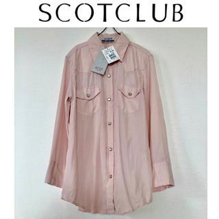 SCOT CLUB - *新品タグ付き*スコットクラブ シワ加工 桜色シフォンシャツ 春シャツ