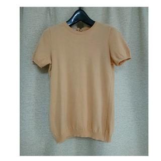 モスキーノ(MOSCHINO)のMOSCHINO モスキーノ 半袖ベージュニット(Tシャツ/カットソー(半袖/袖なし))