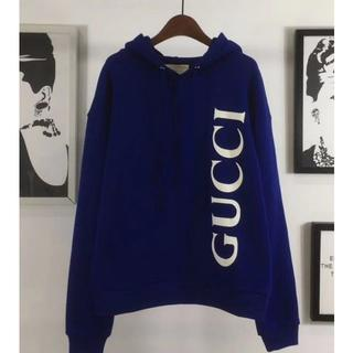 Gucci - GUCCI グッチ ロゴ コットン プルオーバーパーカーM