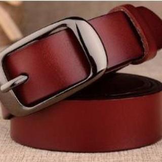 【本革/レッドブラウン・黒】ビジネス用 プレゼント用 高品質のベルトです