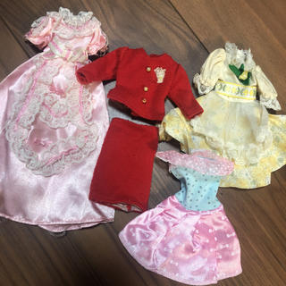 Takara Tomy - リカちゃん レトロお洋服セット22 ジェニー ドレス ワンピース ブライス 小物