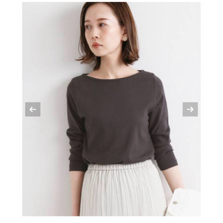 IENA - 【AURALEE/オーラリー 】IENA 別注ボートネックTシャツ◆ 38