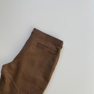 古着 チェックパンツ used 人気 スラックス 韓国ファッション(スラックス)