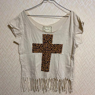 ラグナムーン(LagunaMoon)のラグナムーン フリンジニット(Tシャツ(半袖/袖なし))