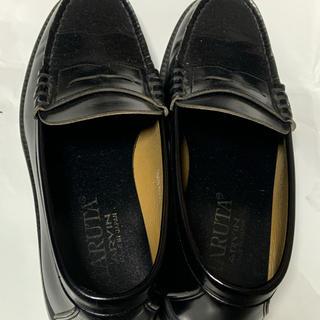 ハルタ(HARUTA)の今日のみ値下げ! 美品 HARUTA ハルタ ローファー 黒  26.5 メンズ(ドレス/ビジネス)