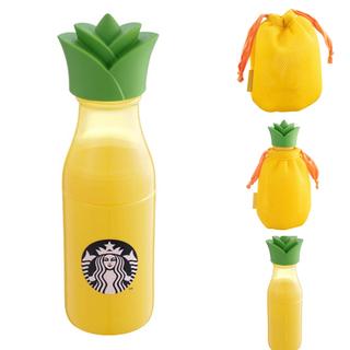 Starbucks Coffee - スターバックス スタバ 海外台湾 2020夏 パイナップルの巾着付きサニーボトル