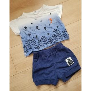 アカチャンホンポ(アカチャンホンポ)のTシャツ ズボン セットアップ上下 70(Tシャツ)