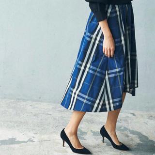 【&NOSTALGIA】チェックバックテールスカート(ひざ丈スカート)