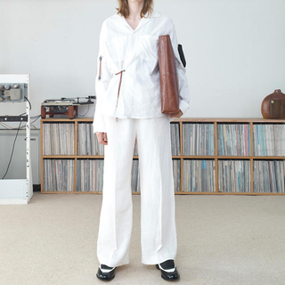 SUNSEA - 【SUNSEA】Linen Wide Straight Pants