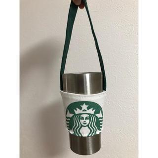 スターバックスコーヒー(Starbucks Coffee)のスタバ ドリンクホルダー 白(トートバッグ)