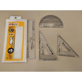 海外 ミッフィー 三角定規、分度器、定規セット