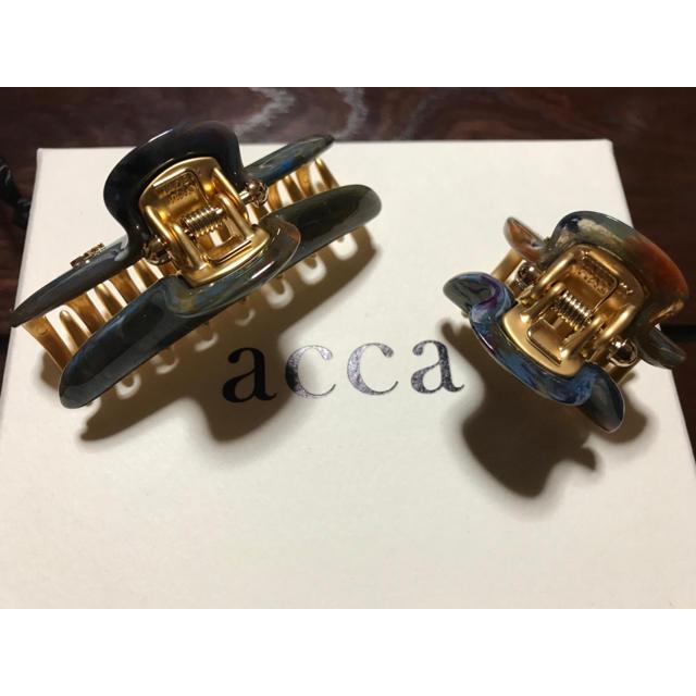 acca(アッカ)の最終価格 acca♡限定バービー  ブルーブラウン中小クリップ レディースのヘアアクセサリー(バレッタ/ヘアクリップ)の商品写真