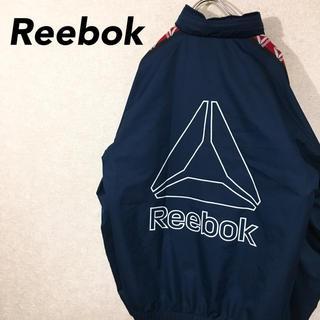 リーボック(Reebok)のリーボック ナイロンジャケット ジャージ 90's 袖ロゴ デカロゴ(ナイロンジャケット)