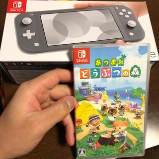 Nintendo Switch - Nintendo Switch Liteグレー どうぶつの森カセット