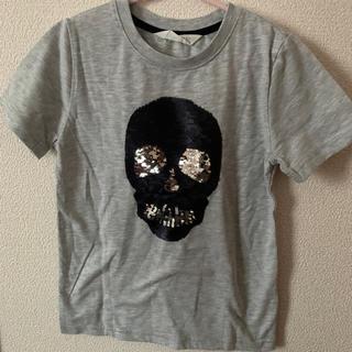 H&M - h&m HM Tシャツ スカル 骸骨 ドクロ スパンコール 半袖
