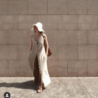 Maison de Reefur - etre tokyo コットンリネン2Wayニットドレス