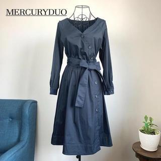 MERCURYDUO - 【美品】 マーキュリーデュオ カシュクールシャツワンピース