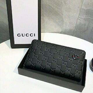 Gucci - GUCCI グッチ ブラック 長財布