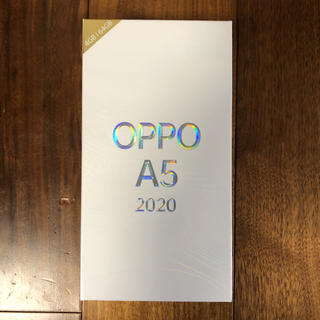 ANDROID - 【新品未使用】SIMフリー OPPO A5 2020 Blue 楽天モバイル対応