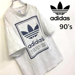 adidas - US製 90's adidas ビッグトレフォイルロゴ Tシャツ