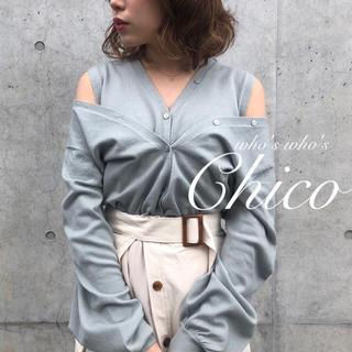 who's who Chico - 僅か⚠️春新作🌷【Chico】肩あきレイヤードカーディガン