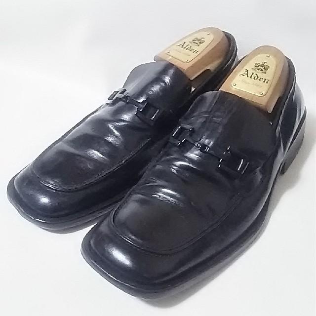 Gucci(グッチ)の 希少オールドグッチ高級牛革レザーモカシンローファー!入手困難!人気黒    メンズの靴/シューズ(ドレス/ビジネス)の商品写真
